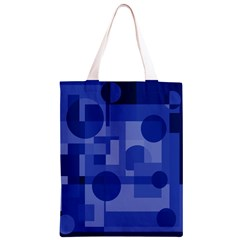 Deep blue abstract design Classic Light Tote Bag