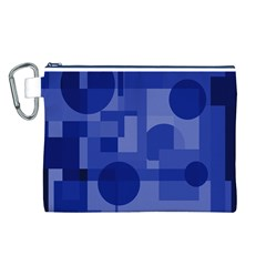 Deep blue abstract design Canvas Cosmetic Bag (L)