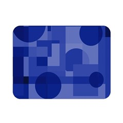 Deep blue abstract design Double Sided Flano Blanket (Mini)