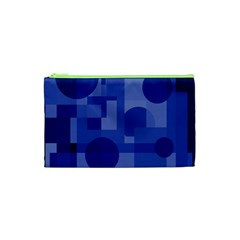 Deep blue abstract design Cosmetic Bag (XS)