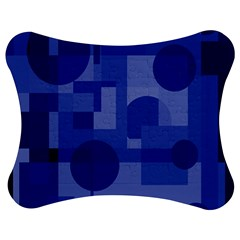 Deep Blue Abstract Design Jigsaw Puzzle Photo Stand (bow)