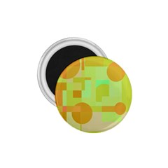 Green and orange decorative design 1.75  Magnets