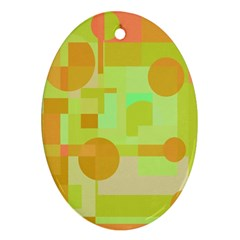 Green and orange decorative design Ornament (Oval)