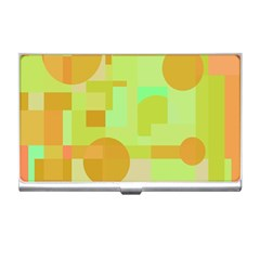 Green and orange decorative design Business Card Holders