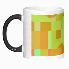 Green and orange decorative design Morph Mugs