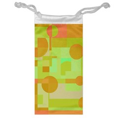 Green and orange decorative design Jewelry Bags