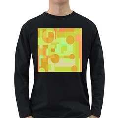 Green and orange decorative design Long Sleeve Dark T-Shirts