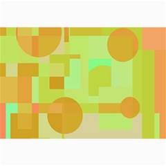 Green and orange decorative design Collage Prints