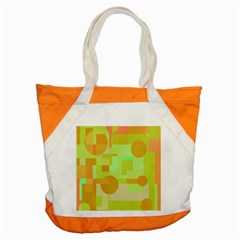 Green and orange decorative design Accent Tote Bag