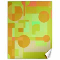 Green and orange decorative design Canvas 18  x 24