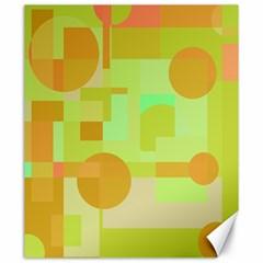 Green and orange decorative design Canvas 20  x 24