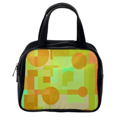 Green and orange decorative design Classic Handbags (One Side)