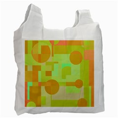 Green and orange decorative design Recycle Bag (One Side)
