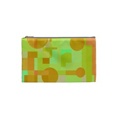 Green and orange decorative design Cosmetic Bag (Small)