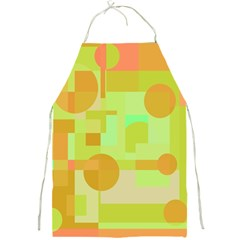 Green and orange decorative design Full Print Aprons