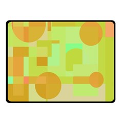 Green and orange decorative design Fleece Blanket (Small)