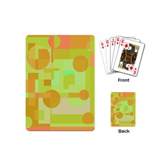 Green and orange decorative design Playing Cards (Mini)