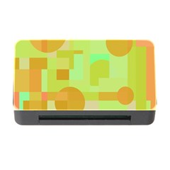 Green and orange decorative design Memory Card Reader with CF
