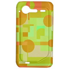 Green and orange decorative design HTC Incredible S Hardshell Case