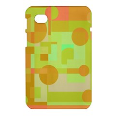 Green and orange decorative design Samsung Galaxy Tab 7  P1000 Hardshell Case