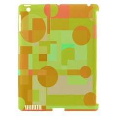 Green and orange decorative design Apple iPad 3/4 Hardshell Case (Compatible with Smart Cover)
