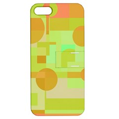 Green And Orange Decorative Design Apple Iphone 5 Hardshell Case With Stand