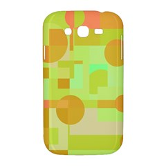 Green and orange decorative design Samsung Galaxy Grand DUOS I9082 Hardshell Case