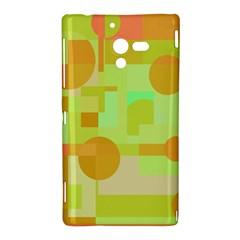 Green and orange decorative design Sony Xperia ZL (L35H)