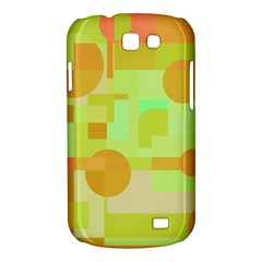 Green and orange decorative design Samsung Galaxy Express I8730 Hardshell Case