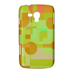 Green and orange decorative design Samsung Galaxy Duos I8262 Hardshell Case