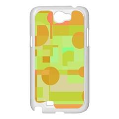 Green and orange decorative design Samsung Galaxy Note 2 Case (White)