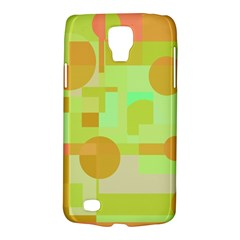Green and orange decorative design Galaxy S4 Active