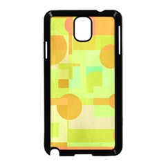 Green and orange decorative design Samsung Galaxy Note 3 Neo Hardshell Case (Black)