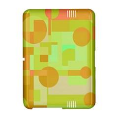 Green and orange decorative design Amazon Kindle Fire (2012) Hardshell Case