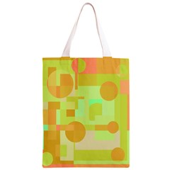 Green and orange decorative design Classic Light Tote Bag