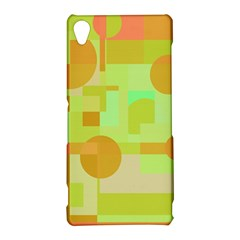 Green and orange decorative design Sony Xperia Z3