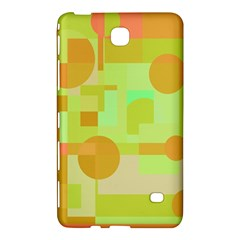 Green And Orange Decorative Design Samsung Galaxy Tab 4 (7 ) Hardshell Case