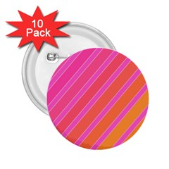 Pink elegant lines 2.25  Buttons (10 pack)