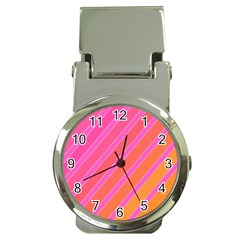 Pink elegant lines Money Clip Watches