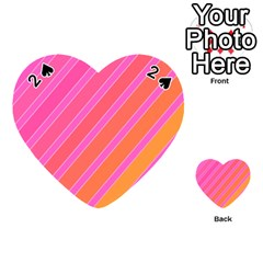 Pink elegant lines Playing Cards 54 (Heart)
