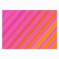 Pink elegant lines Large Glasses Cloth (2-Side)