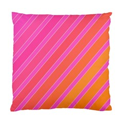 Pink Elegant Lines Standard Cushion Case (one Side)