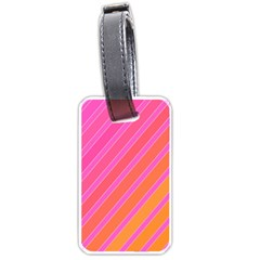 Pink elegant lines Luggage Tags (Two Sides)