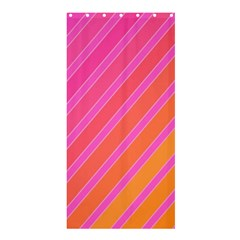 Pink elegant lines Shower Curtain 36  x 72  (Stall)