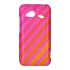 Pink elegant lines HTC Droid Incredible 4G LTE Hardshell Case