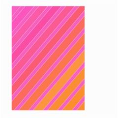 Pink elegant lines Large Garden Flag (Two Sides)