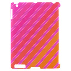 Pink elegant lines Apple iPad 2 Hardshell Case (Compatible with Smart Cover)
