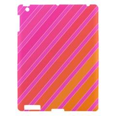 Pink elegant lines Apple iPad 3/4 Hardshell Case