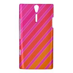 Pink elegant lines Sony Xperia S