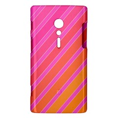 Pink elegant lines Sony Xperia ion